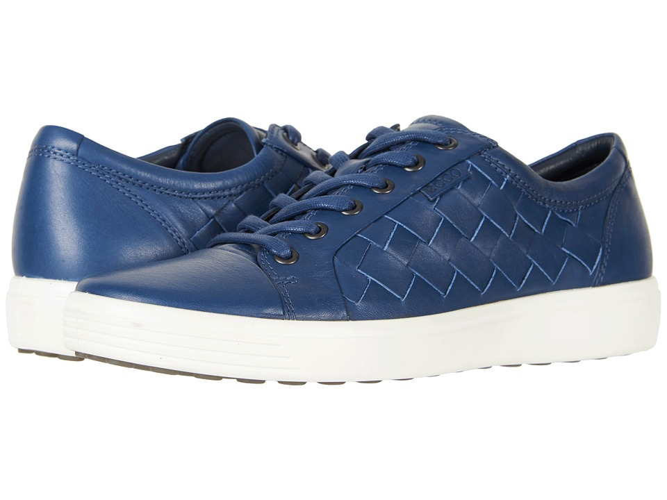 ECCO Soft 7 Woven Tie (True Navy) Men's Lace up casual Shoes