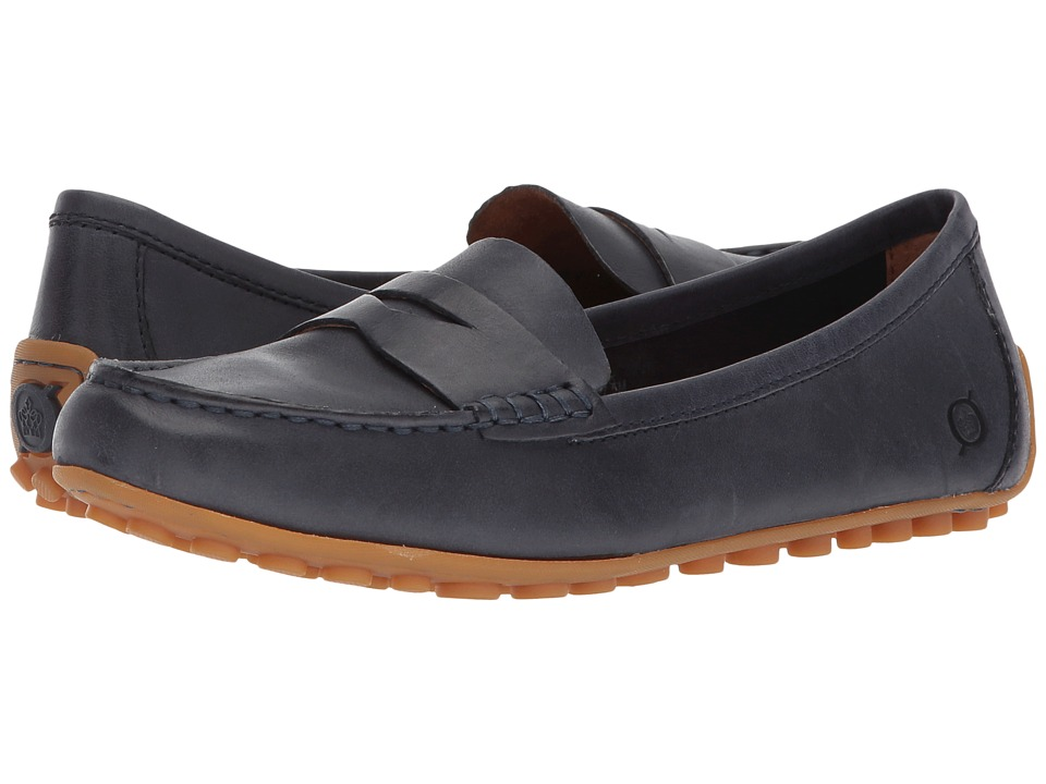 Born Malena (Navy (Peacoat Blue) Full Grain Leather) Flats
