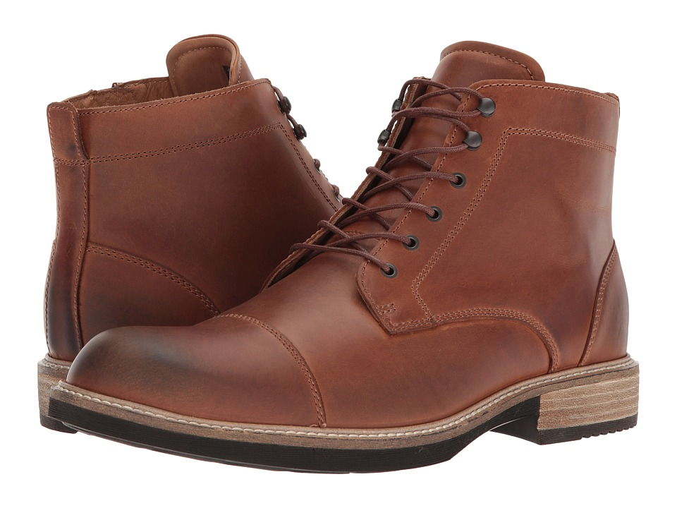 ECCO Kenton Vintage Boot (Cognac Light) Men