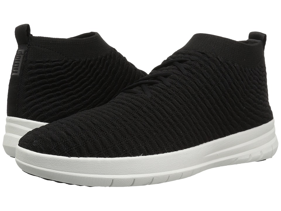 FitFlop - Uberknit Slip-On High Top Sneaker in Waffle Knit (Black) Mens Lace up casual Shoes
