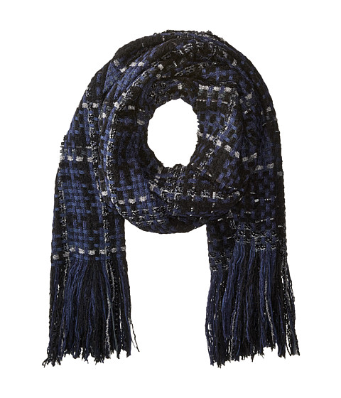 rag & bone Linton Tweed Scarf - Blue Multi