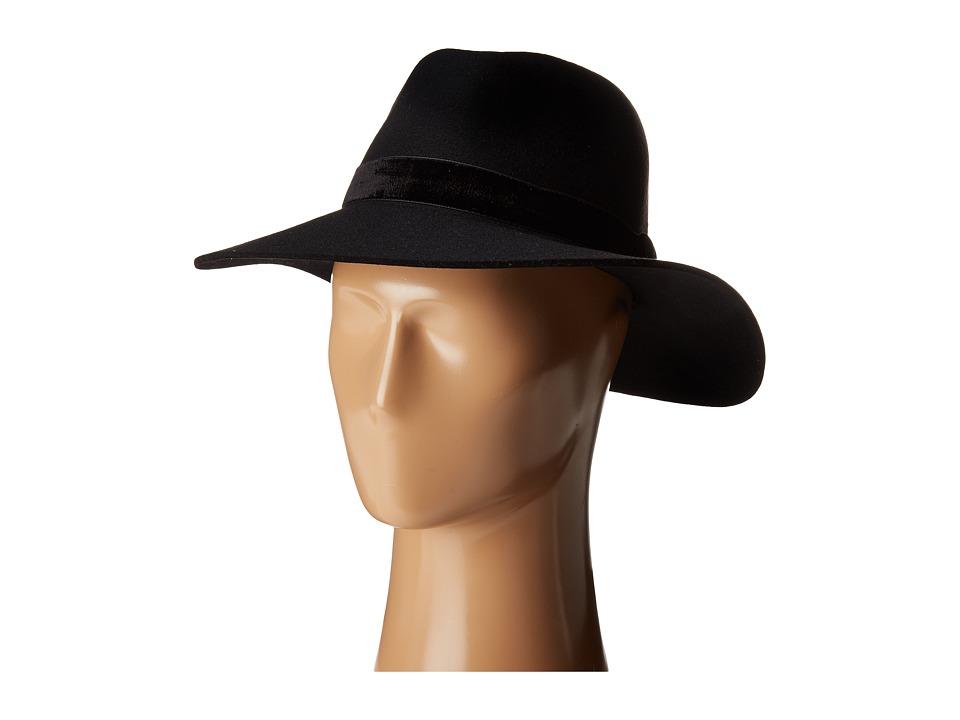 rag & bone - Zoe Fedora (Black) Fedora Hats