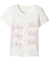 Spiritual Gangster Kids - Stay Wild Cursive Tee (Toddler/Little Kids/Big Kids)