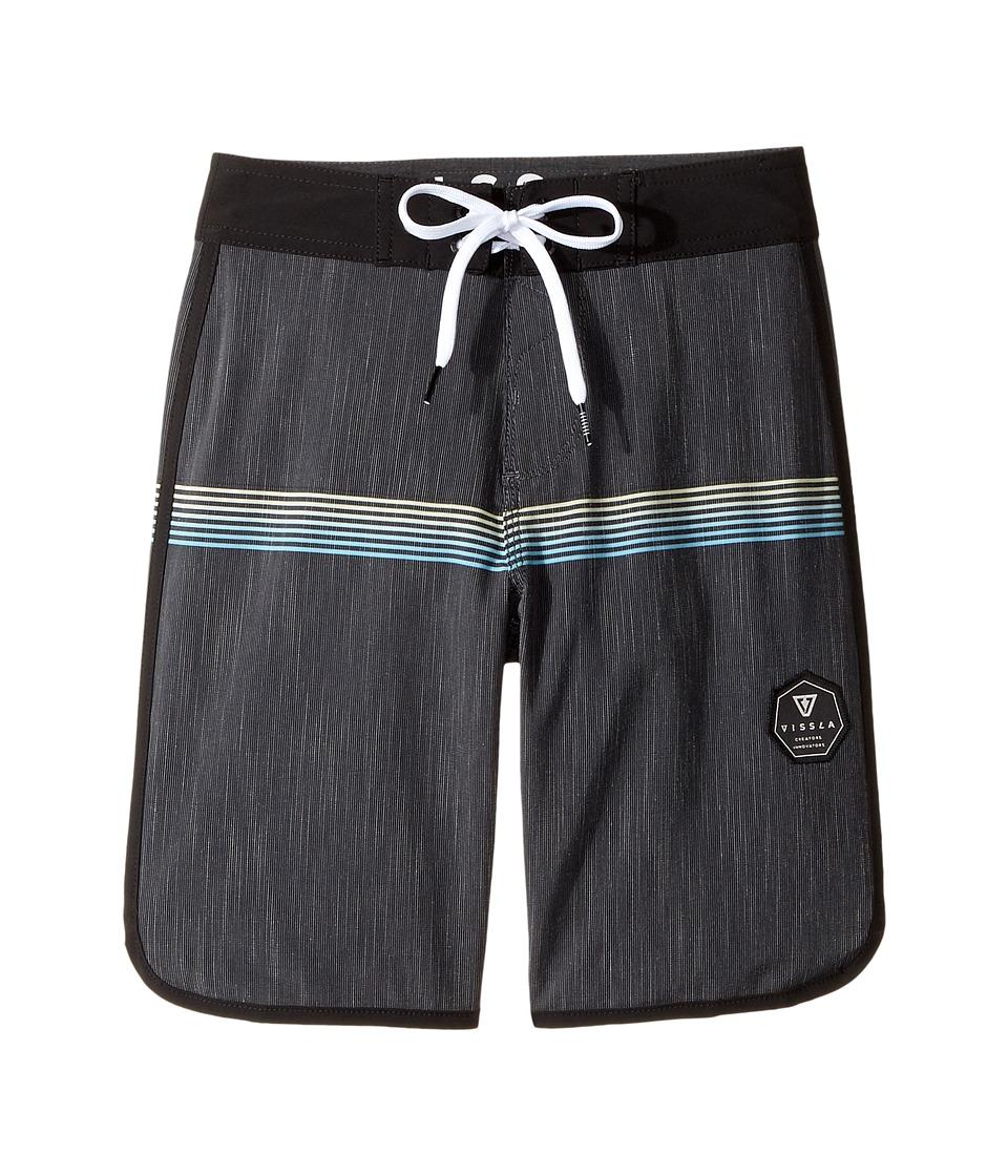 VISSLA Kids Dredges Four-Way Stretch Boardshorts 17 (Big Kids) (Midnight) Boy