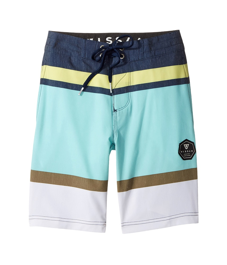 VISSLA Kids - Waterline Four-Way Stretch Boardshorts 17 (Big Kids) (Dark Navy) Boys Swimwear