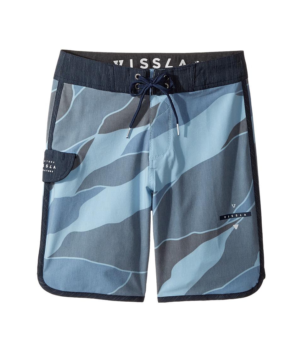 VISSLA Kids Bordertown Four-Way Stretch Boardshorts 17 (Big Kids) (Deep Sea) Boy