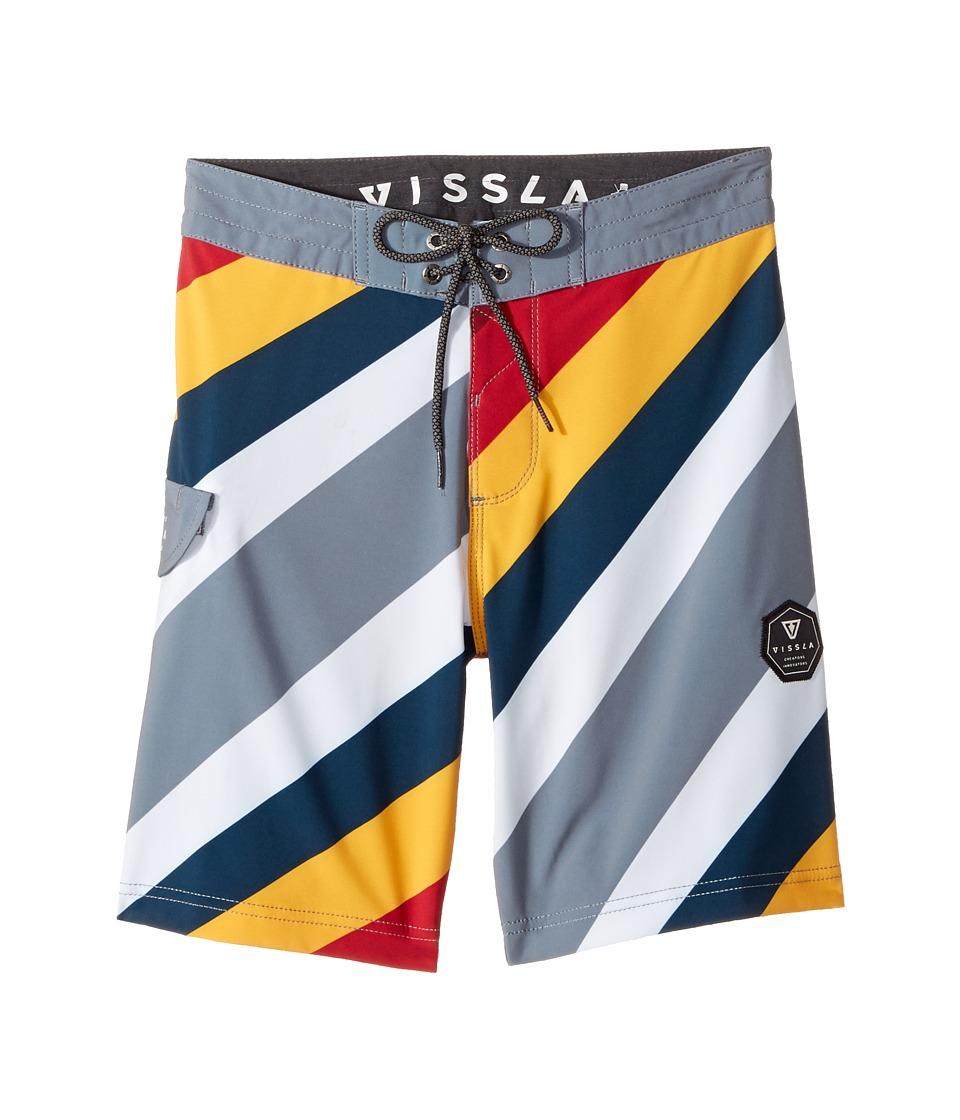 VISSLA Kids Beach Rays Four-Way Stretch Boardshorts 17 (Big Kids) (Gunmetal) Boy