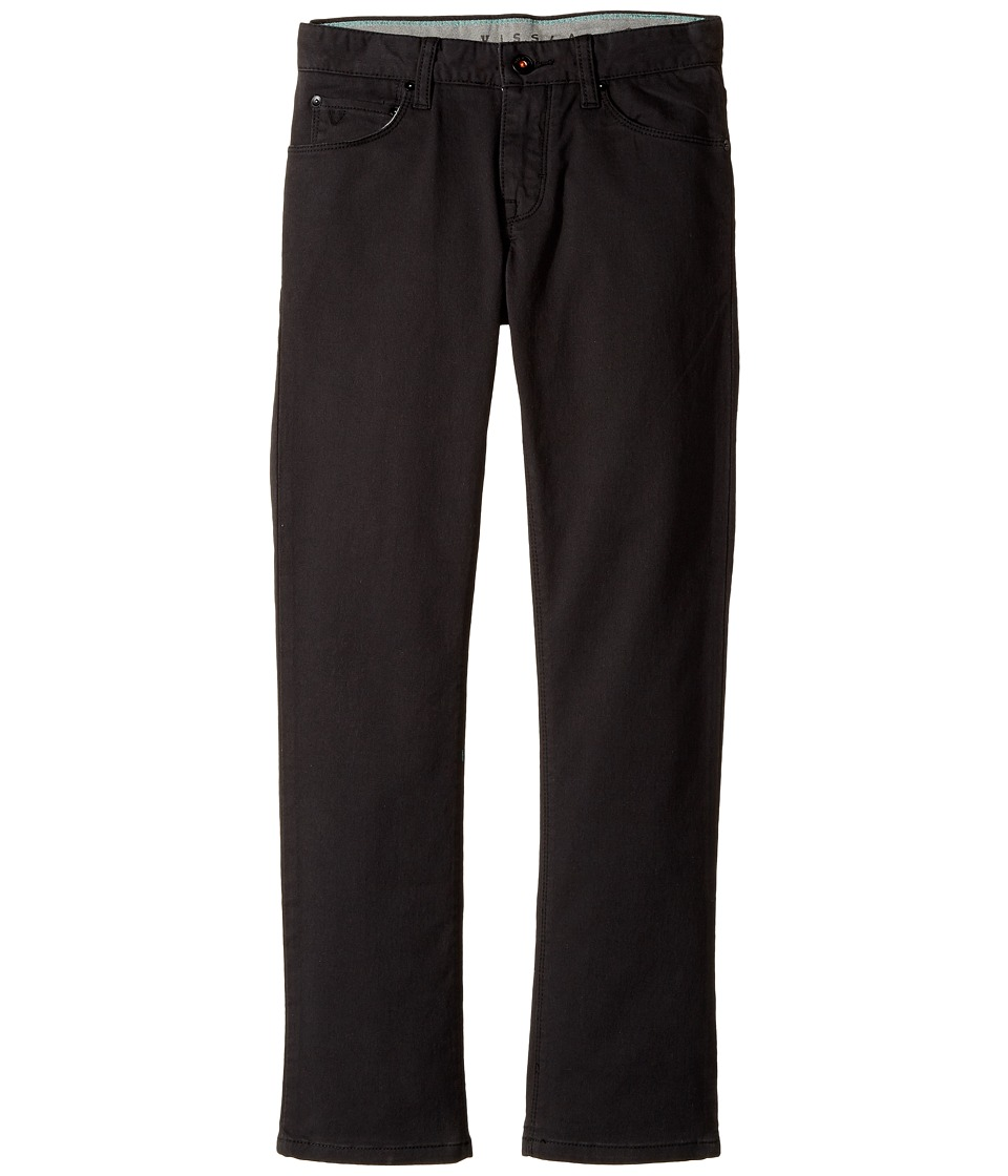VISSLA Kids - Profile Stretch Twill Pants (Big Kids) (Black Fade) Boys Casual Pants