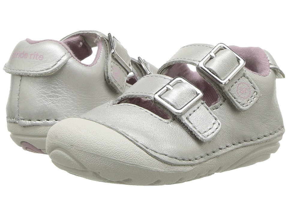 Stride Rite Talia (Infant/Toddler) (Silver) Girls Shoes