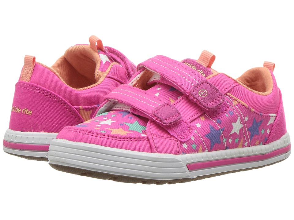Stride Rite Logan (Toddler/Little Kid) (Pink Star) Girls Shoes