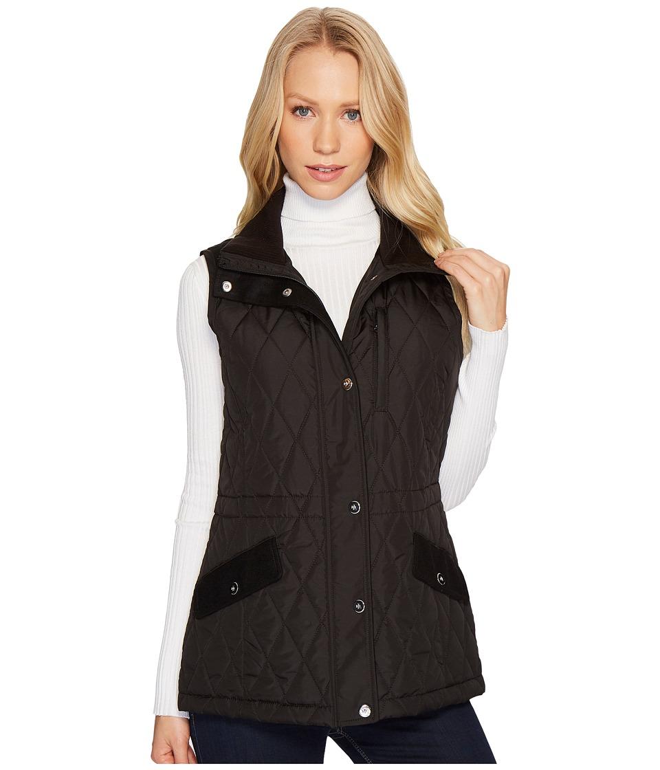 Ralph Lauren Vest w/ Wool Combo (Black) Women's Vest