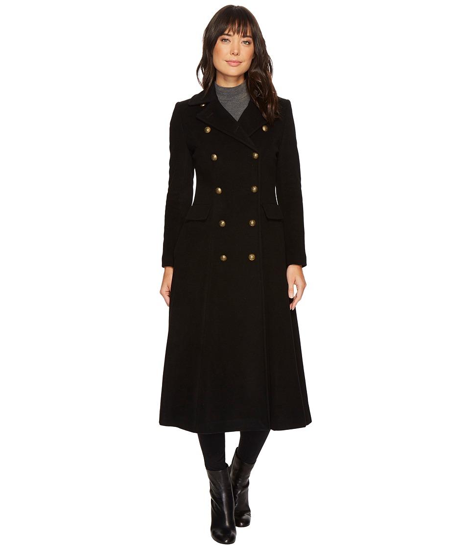 Ralph Lauren Military Maxi (Black) Women's Coat
