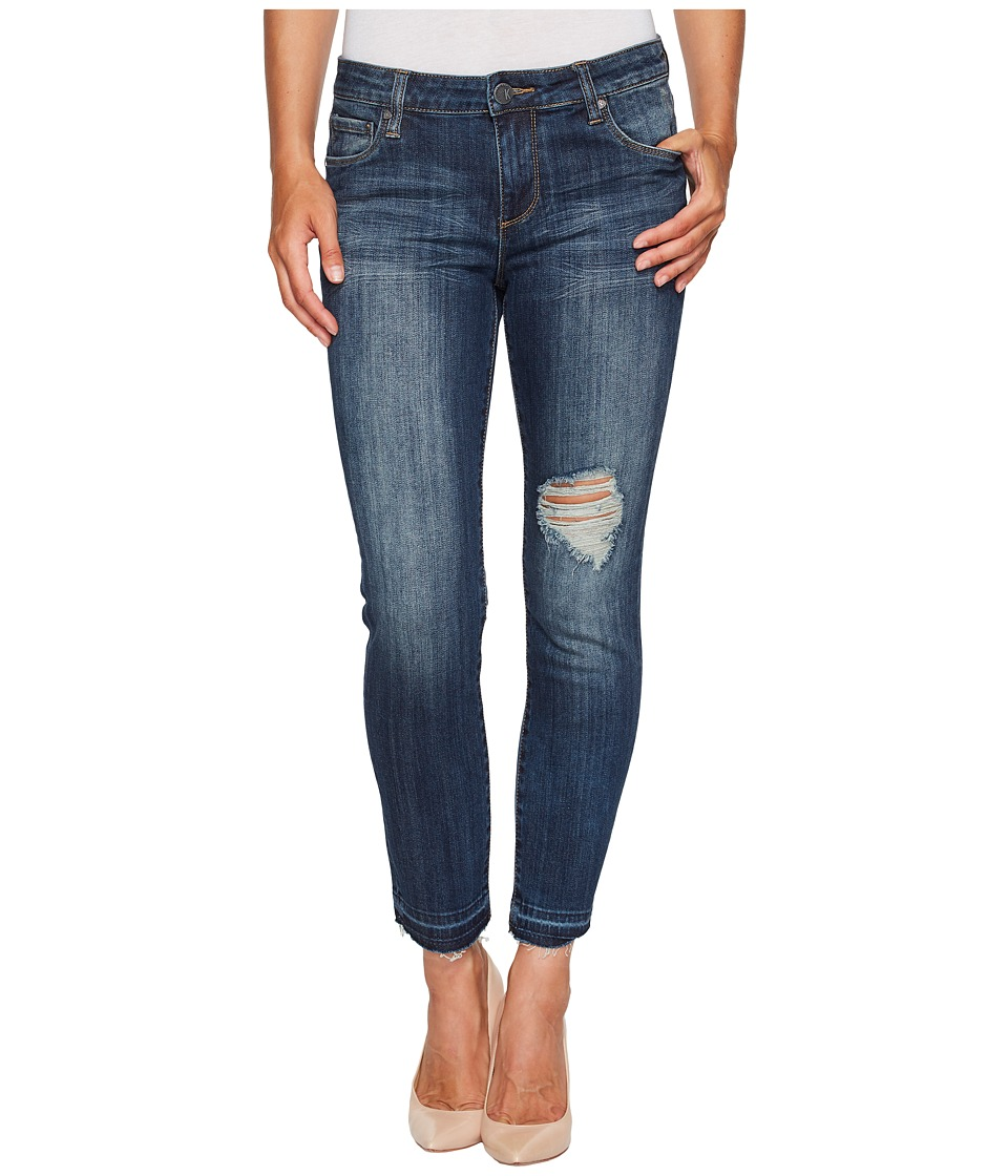 KUT from the Kloth Reese Ankle Straight Leg in Musical w/ Medium Base Wash (Musical/Medium Base Wash) Women