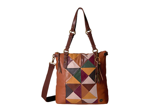 The Sak Ashland Tote - Brown Square Patch