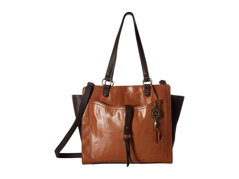 The Sak Sonora Leather Tote (Brown Snake Multi) Tote Hand...