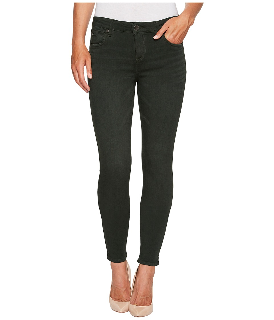 KUT from the Kloth Mia Ankle Toothpick Skinny in Deep Green (Deep Green) Women