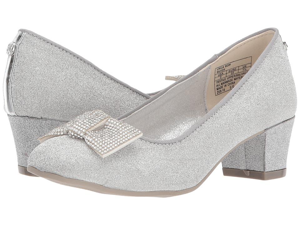 Stuart Weitzman Kids Erica Bow (Little Kid/Big Kid) (Silver Glitter) Girl's Shoes