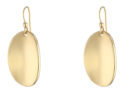 Roberto Coin High Polished Oval Drop Earrings - 18K Yellow Gold