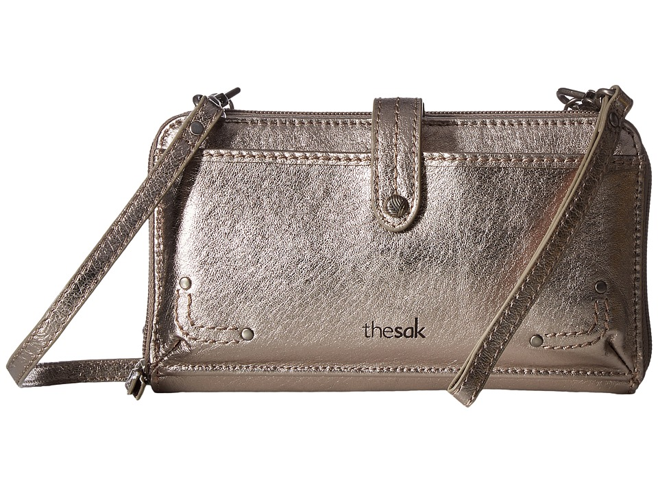 The Sak - Iris Large Smartphone Crossbody (Pyrite Metalic) Cross Body Handbags