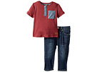 7 For All Mankind Kids 7 For All Mankind Kids - Two-Piece Pocket Tee and Jeans Set (Infant)