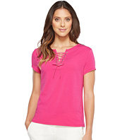 Ivanka Trump - Cotton/Modal Lace-Up Tee