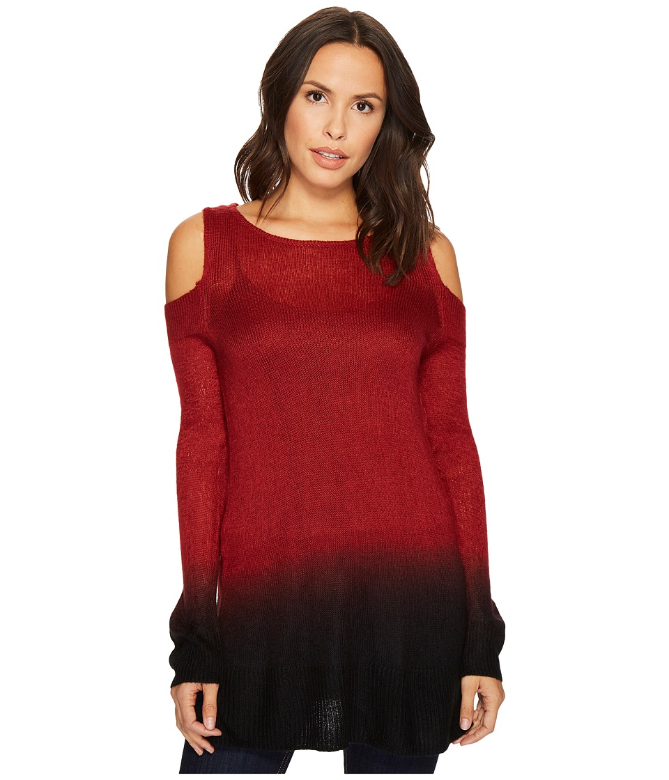 TWO by Vince Camuto - Long Sleeve Cold Shoulder Dip-Dyed Tunic