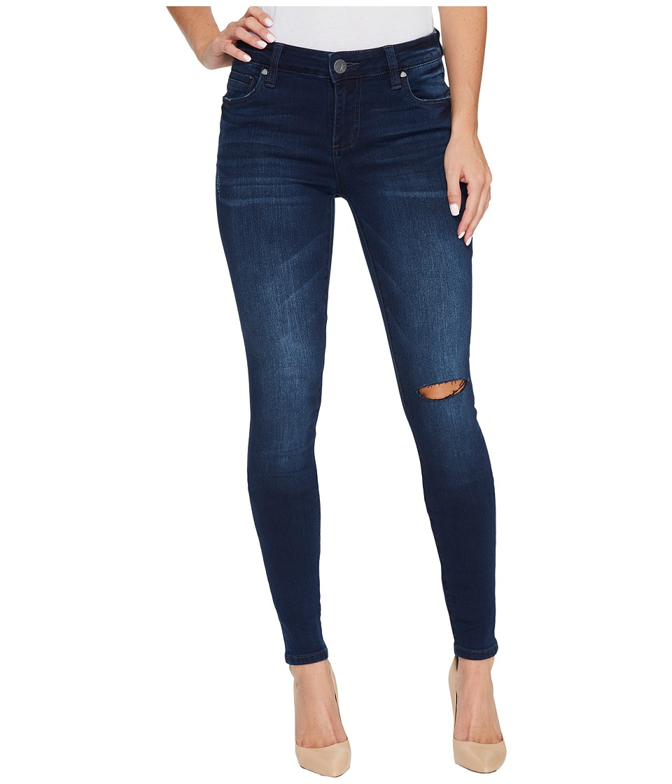 KUT from the Kloth Mia Toothpick Skinny in Overt w/ Dark Stone Base Wash (Overt/Dark Stone Base Wash) Women