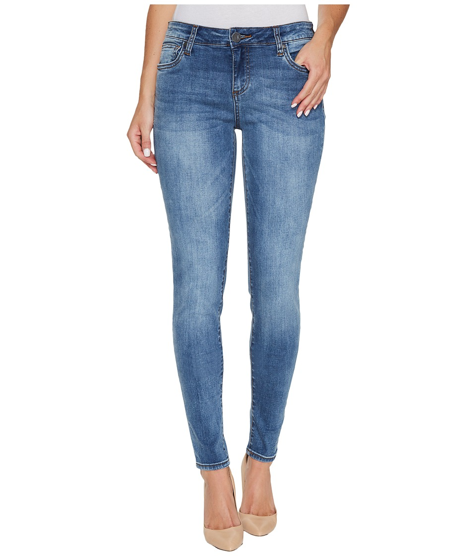 KUT from the Kloth Donna Skinny in Venturesome w/ Medium Base Wash (Venturesome/Medium Base Wash) Women