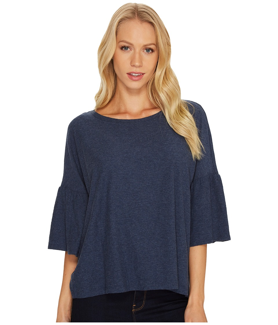 TWO by Vince Camuto Relaxed Bell Sleeve Cotton Slub Tee (Indigo Night Heather) Women
