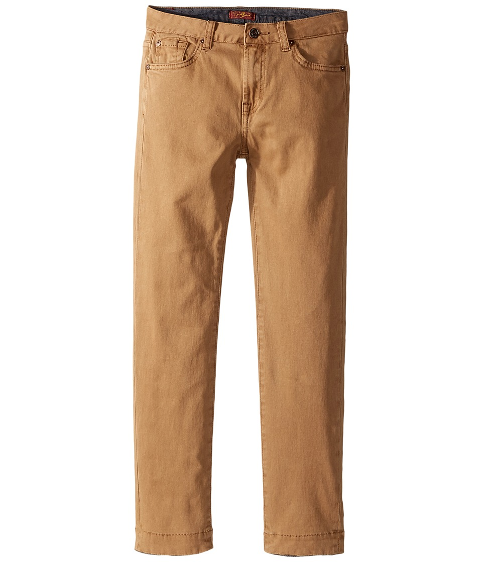 7 For All Mankind Kids Stretch Twill Slimmy Pants in Khaki (Big Kids) (Khaki) Boy