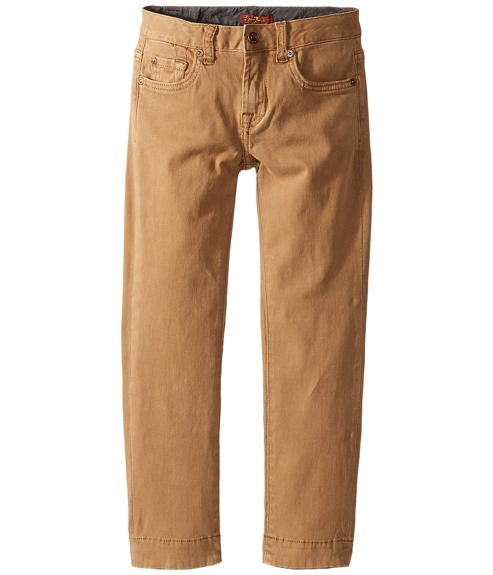 7 For All Mankind Kids Stretch Twill Slimmy Pants in Khaki (Little Kids/Big Kids) (Khaki) Boy
