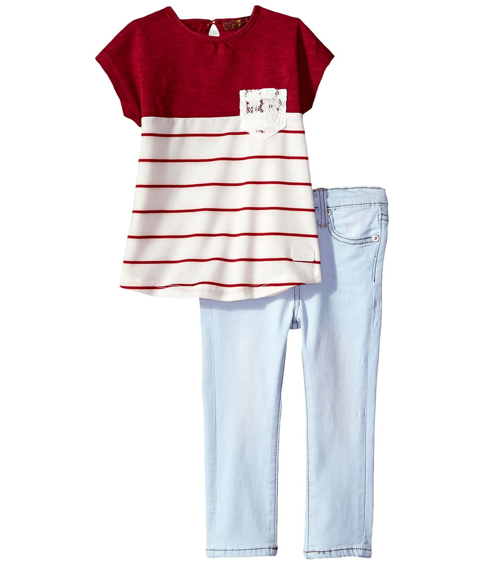 7 For All Mankind Kids - Two-Piece Color Block Tee and Jeans Set
