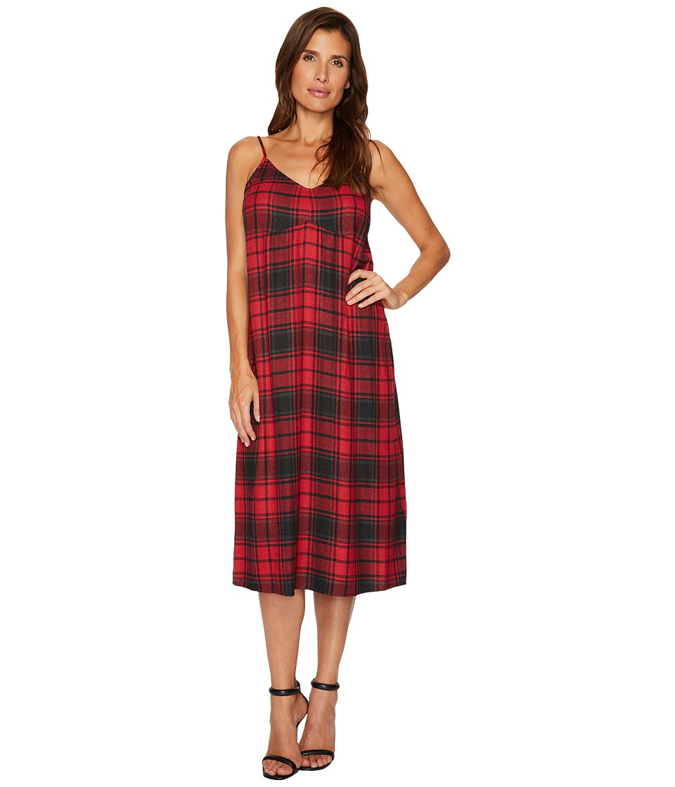 TWO by Vince Camuto Stateside Plaid Maxi Dress (Russet Red) Women