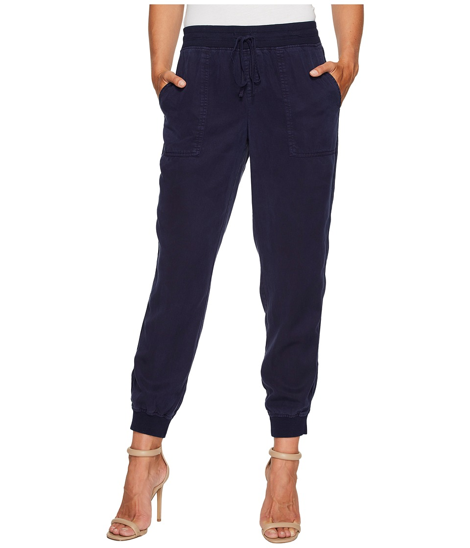 TWO by Vince Camuto - Tencel Twill Ribbed Jogger (Black Iris) Womens Casual Pants