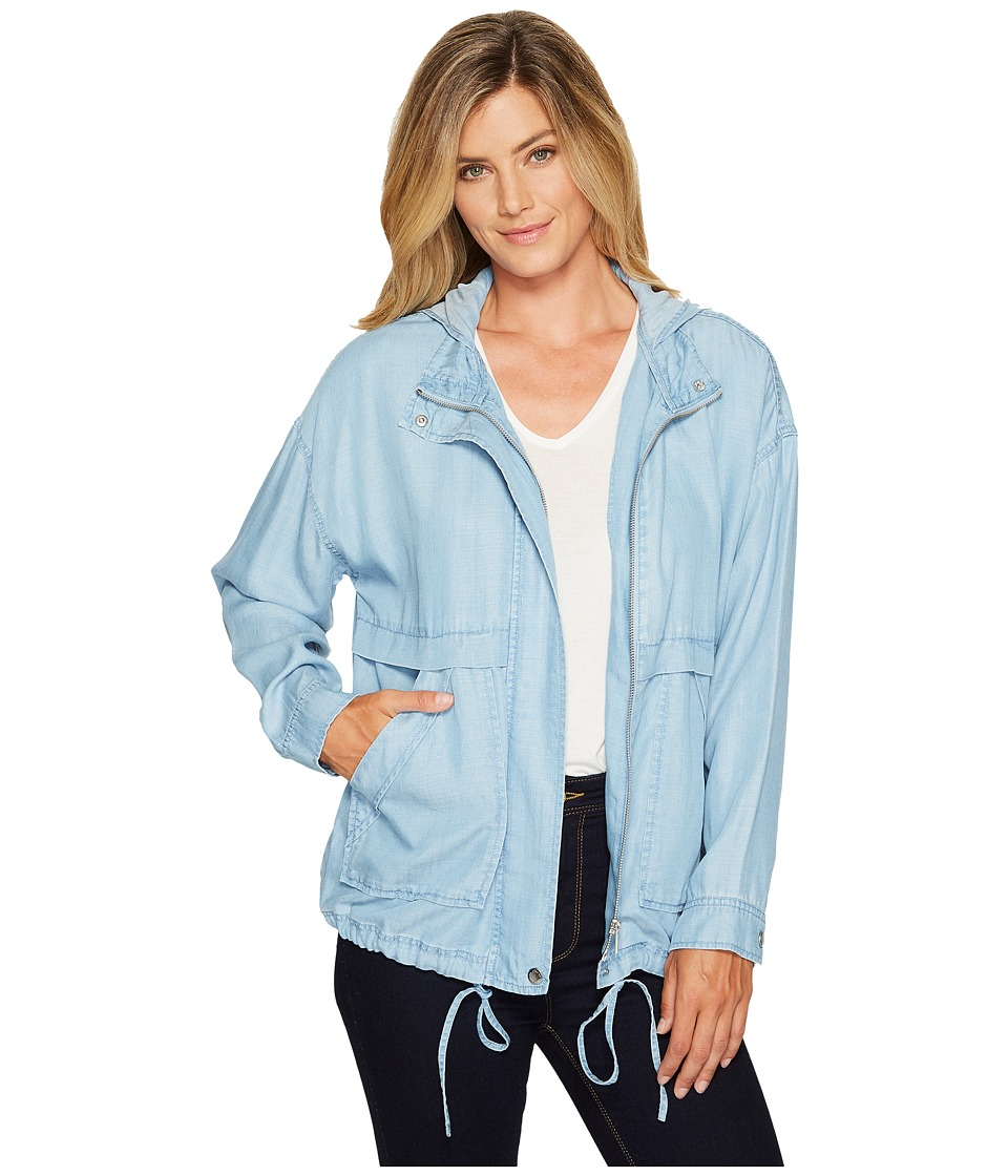 TWO by Vince Camuto - Washed Indigo Tencel Anorak