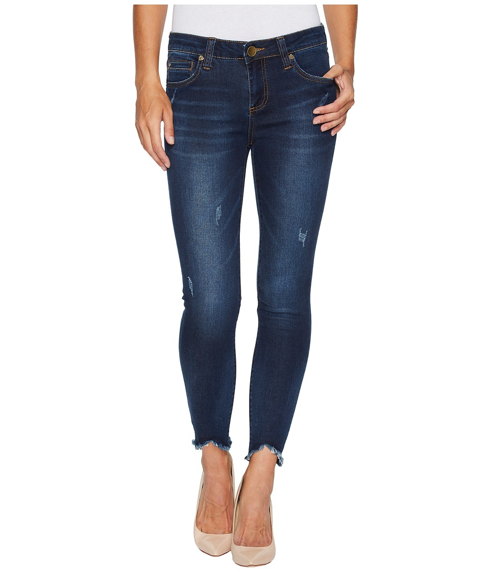 KUT from the Kloth Connie Ankle Skinny-w/ Uneven Hem in Benefic w/ Dark Stone Base Wash (Benefic/Dark Stone Base Wash) Women