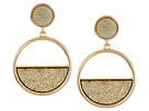 Half Filled Circle Drop Earrings