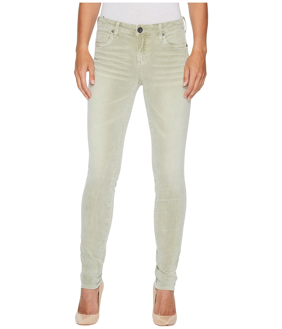 KUT from the Kloth Diana Skinny Corduroy in Olive (Olive) Women