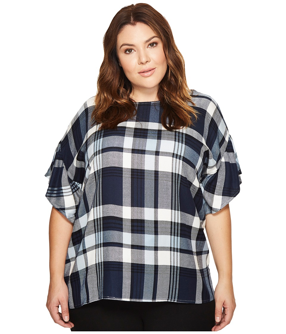 TWO by Vince Camuto - Plus Size Ruffled Short Sleeve Rela...