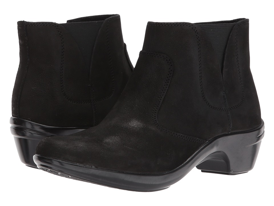Aravon Kitt Bootie (Black Leather) Women