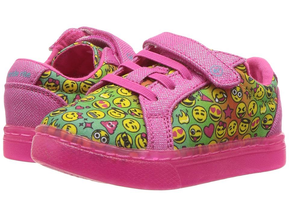 Stride Rite SR-Lights Raz (Toddler/Little Kid) (Pink Emoji Print) Girls Shoes