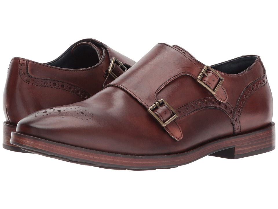 Cole Haan - Hamilton Grand Double Monk (Mahogany) Mens Shoes