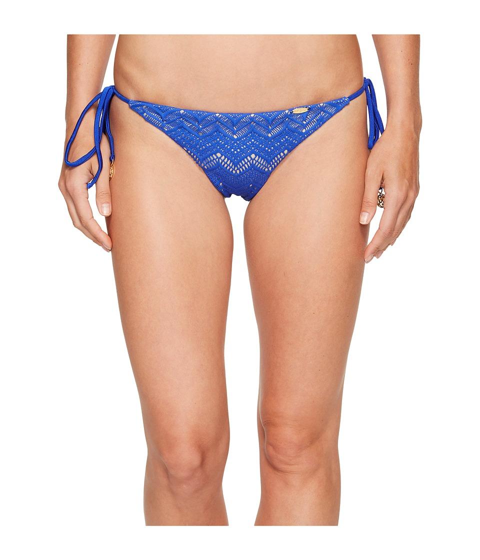 Luli Fama Tropical Princess Brazilian Ruched Back Tieside Bottom (Electric Blue) Women