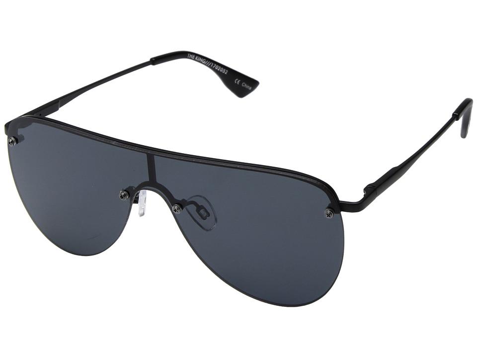 Le Specs The King (Matte Black) Fashion Sunglasses