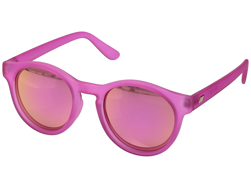 Le Specs Hey Macarena (Matte Magenta) Fashion Sunglasses