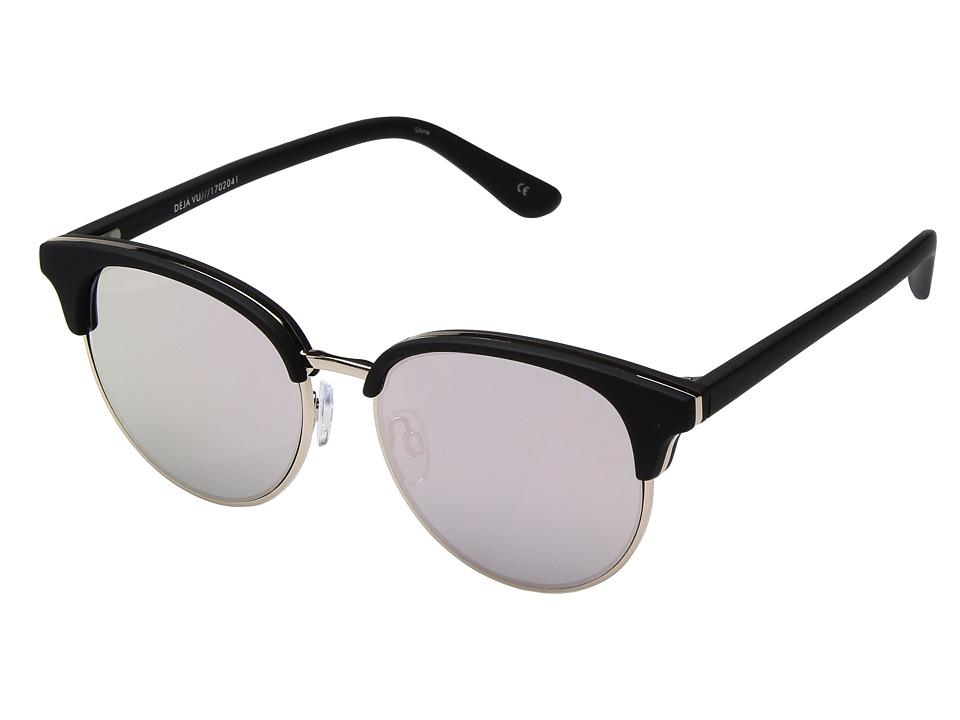Le Specs Deja Vu (Black Rubber) Fashion Sunglasses