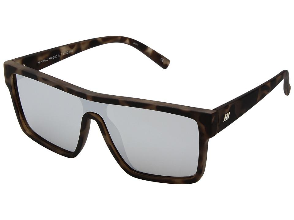 Le Specs Minimal Magic (Tortoise Rubber) Fashion Sunglasses