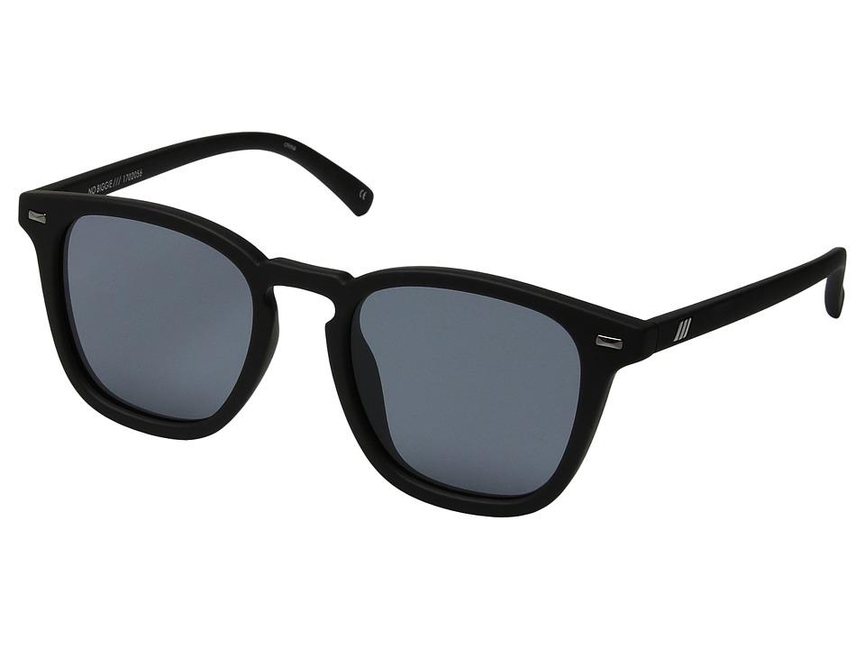 Le Specs No Biggie (Black Rubber) Fashion Sunglasses