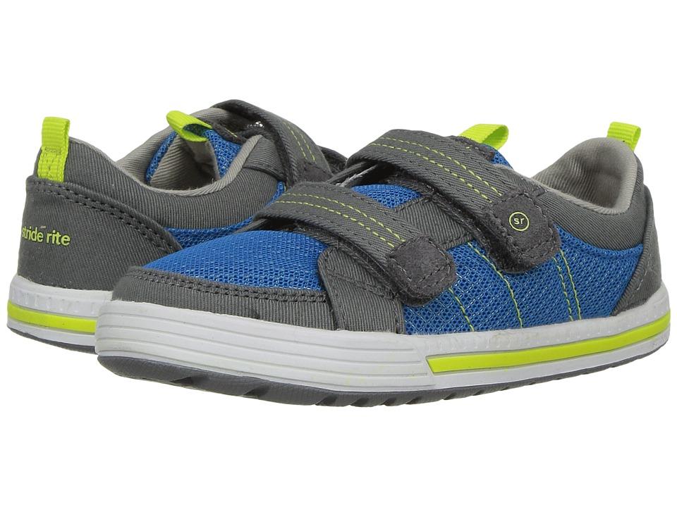 Stride Rite SR-Logan (Toddler/Little Kid) (Blue/Grey) Boys Shoes