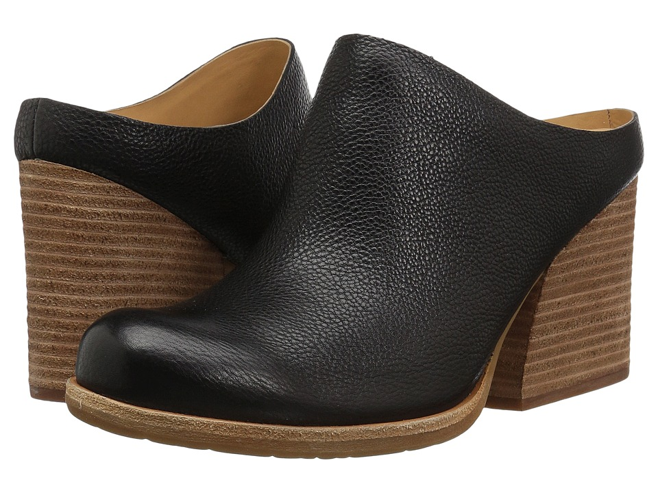 Kork-Ease Challis (Black Full Grain Leather) Clogs